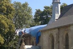 Foto 15/30: V průběhu prací na krovu presbytáře, 7/2013