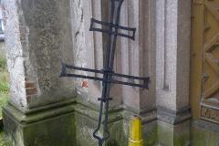 Foto 22/30: Sejmutý kříž a váza sanktusové věže, 10/2014