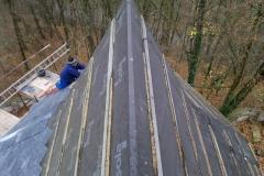 Foto 26/30: Pohled ze sanktusové věže na hřeben střechy presbytáře, 12/2014