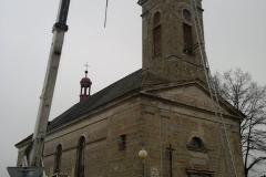 Foto 11/14: Osazování kříže 2011