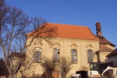 Foto 14/28: Podzim 2011 - dokončena oprava krovu a střešní krytiny lodě kostela