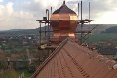 Foto 21/28: Průběh opravy sanktusové věže, 11/2013