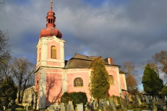 Foto 10: Celkový pohled na kostel Zvěstování Panny Marie v Dymokurech, 11/2018