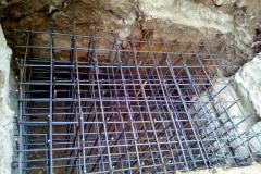Foto 17/22: Výztuž základu před vylitím betonem, 10/2014