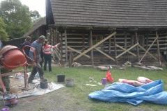 Foto 1/13: Vynesení nad opravovanými konstrukcemi, 5/2015