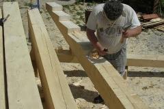 Foto 4/16: Příprava žebřinových trámů