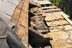 Dožilé části krovu na okapech