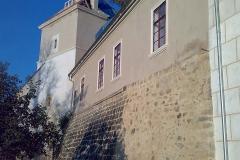 Foto 9/19: Jižní strana s rozkrytou střechou věže