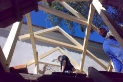 Foto 4/19: Nástavba nad úroveň střechy jižního křídla - zpřístupnění věže