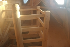 Foto 17/19: Zakončení schodiště z jižního křídla do věže, 7.4. 2012