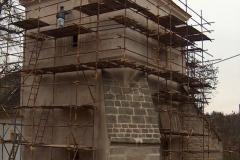 Foto 1/19: Omítky věže, opravený opěrák