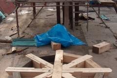 Foto 3/5: Opravený vazný kříž stropu