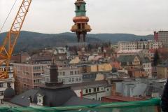 Foto 4/5: Osazování horní části věže